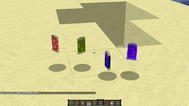 different soda Drink with different potion effects!