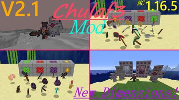 Chulaf3 Mod V2.1 (Foods, Tools, Weapons, Bosses, Dimensions and more!) Minecraft Mod