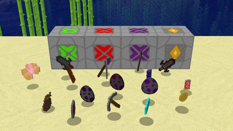 new weapons and spawn eggs