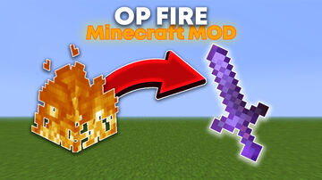 Minecraft, But Fire Drops OP Items Minecraft Mod