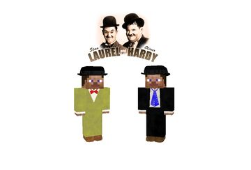 Laurel and Hardy flans contentpack in honor of stan laurel death day (February 23, 1965) Minecraft Mod