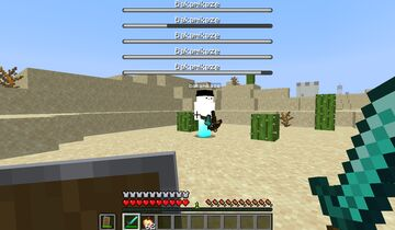 My friend -> Boss fight :) Minecraft Mod