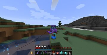 Minecraft But Fishing Drops OP Loot  - FORGE Minecraft Mod