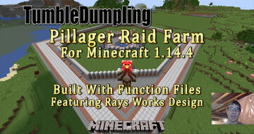 Pillager Raid Farm for Minecraft 1.14.4 (Uses Function Files) Minecraft Map & Project