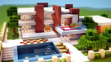 Modern house! Minecraft Map & Project