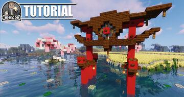 Oriental Torii Gate + Download Minecraft Map & Project