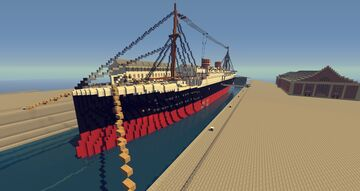 MS Koningin Wilhelmina Minecraft Map & Project