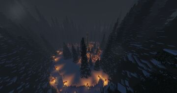 Holiday Forest Clearing Market Minecraft Map & Project