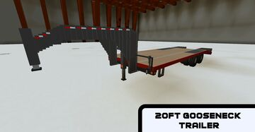 20ft Gooseneck Fifth Wheel Trailer with animations (Big Tex 20GN) Minecraft Map & Project