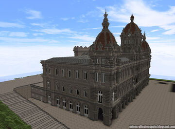 Replica Minecraft of the City Council of A Coruña, Spain. Minecraft Map & Project