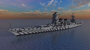 Fictional Japanese Battleship - 近江 (Ōmi) - For _NamSek_ Minecraft Map & Project