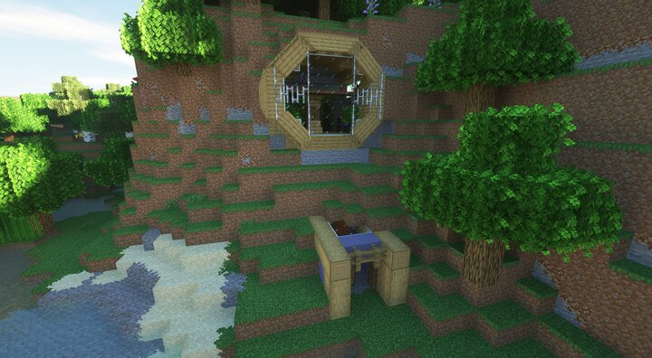 30Min Build - Modern Mountain Side Home Minecraft Map