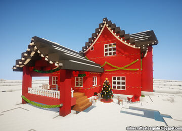 Nordic Christmas house with interiors by Minecrafteate. Minecraft Map & Project