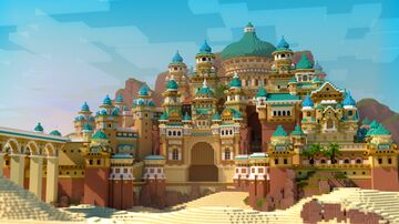 Moroccan Architecture Inspired Palace Minecraft Map & Project