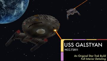 USS Galstyan | FULL INTERIOR Star Trek Original Build Minecraft Map & Project
