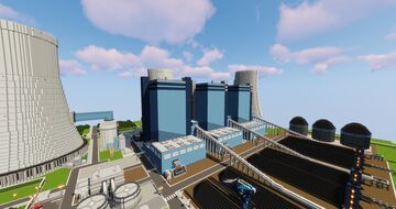 My most realistic Powerplant Minecraft Map & Project