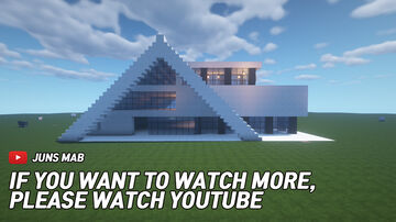 Large Modern House Minecraft Map & Project