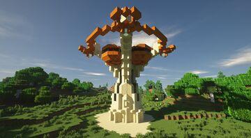 30 Min Build - Desert Tech Temple Minecraft Map & Project