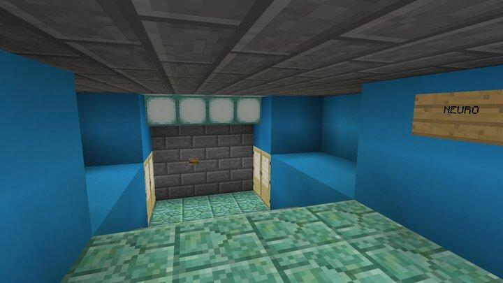 Same area in Minecraft