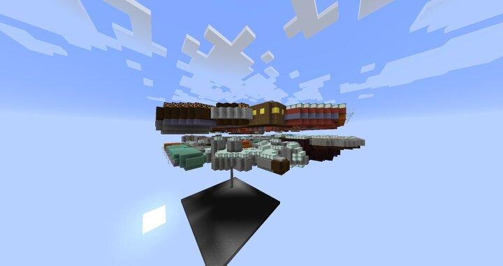 Side view of the progress so far