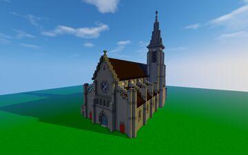Eglise Saint-Hermeland, Bagneux, France Minecraft Map & Project