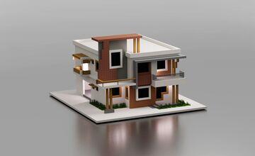Modern Villa House Minecraft Map & Project