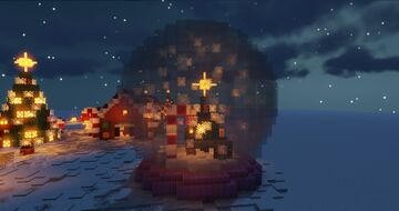 Musical Redstone Snow Globe Minecraft Map & Project