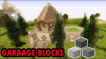 Using The MOST HATED BLOCKS In Minecraft ,We Build AWESOME HOUSE Minecraft Map & Project