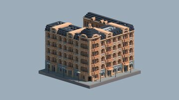 European Commercial Building 4 Minecraft Map & Project