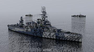 USS Arkansas (BB-33) Minecraft Map & Project
