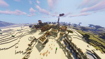 Timelapse   Desert Village Transformation   w/download Minecraft Map & Project