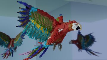 """""""The Ara Parrot"""" Minecraft Map & Project"""