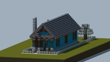 Shotgun style home build #1 [Full interior, With download] Minecraft Map & Project