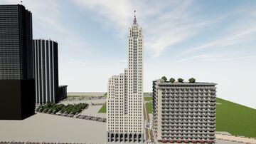 The Century Building - Art Deco Skyscraper   New Limesville City   NL   UCS Minecraft Map & Project
