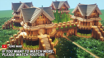 Large oak Survival Base Minecraft Map & Project