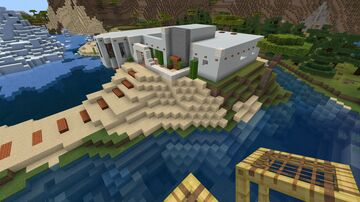 Modern Adobe Mansion Minecraft Map & Project