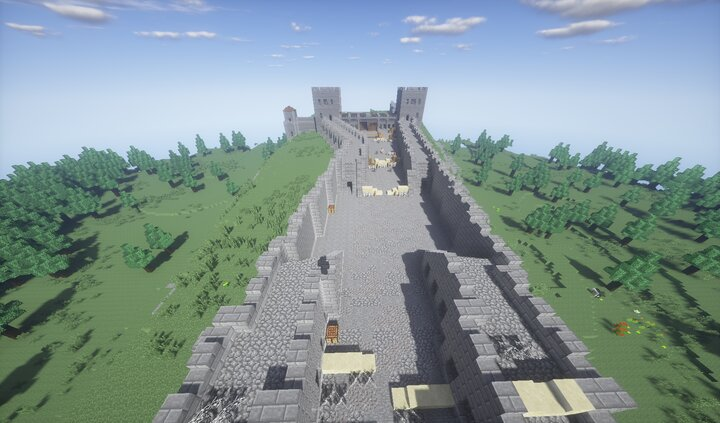 Inside the first defensive wall