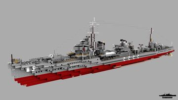 IJN Ayanami 1:1 Scale Fubuki/Ayanami class Minecraft Map & Project