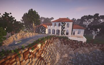 Mediterranean Villa by Abyss and Brady || BPN SERVER Minecraft Map & Project