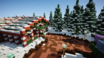 Minecraft Christmas/Winter Spawn Minecraft Map & Project