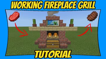 Working Fireplace Grill Tutorial Minecraft Map & Project
