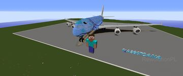 ANA Airbus A380 Minecraft Map & Project