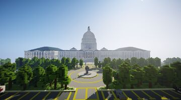 The US Capitol, Washington DC Minecraft Map & Project