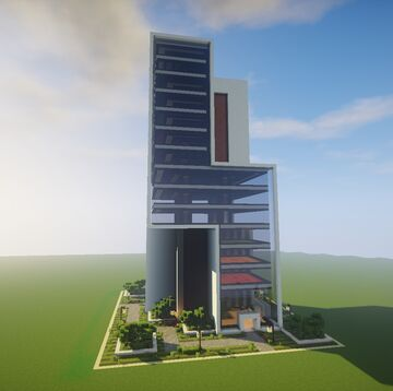 Two simple modern skyscrapers Minecraft Map & Project