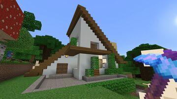 Modern A-Frame Cabin Minecraft Map & Project