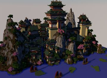 My old creation (Japanese catle) | Download Minecraft Map & Project