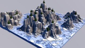 Snowy terrain [501x501] Minecraft Map & Project