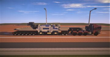 1.75:1 Scale  Euro M.A.N  Heavy Duty Truck and Trailer with Road Milling Machine Minecraft Map & Project