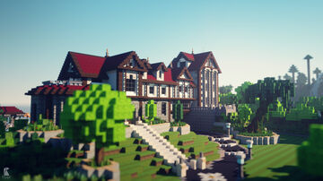 Seaside Mansion Minecraft Map & Project