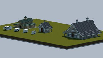 Dream's Horse barns, and trailers [Full interior, and download] Minecraft Map & Project